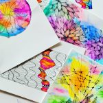 Photo of doodles scattered across a table