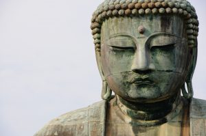 large buddha face