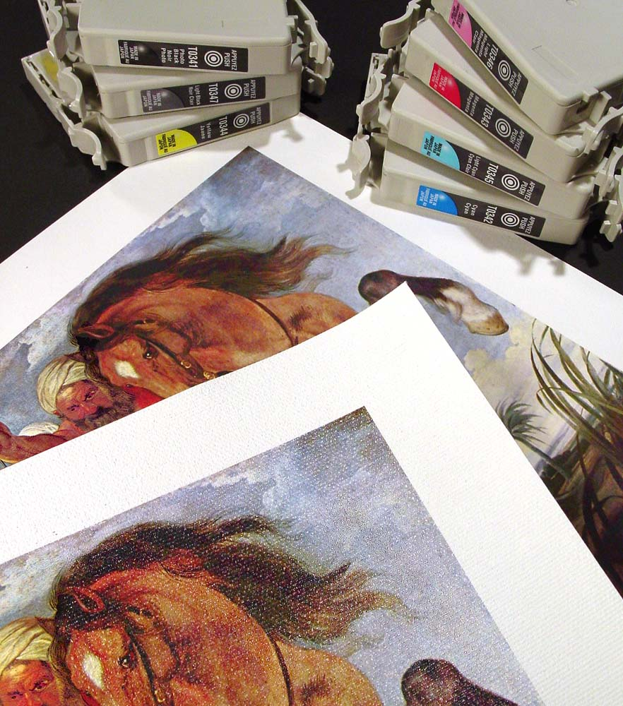 giclee prints and printer cartridges